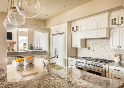 Beautiful, clean kitchen with amazing countertops